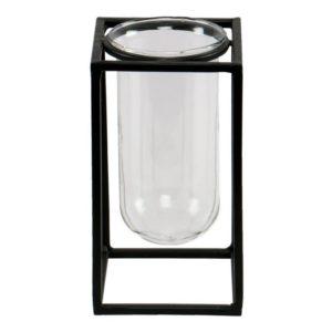 Vase mit Rahmengestell