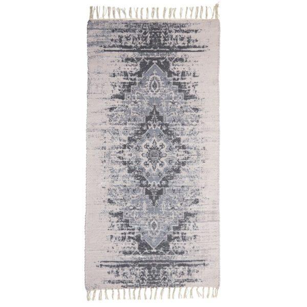 Handgemachter Teppich in grau und braun