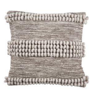 Handgewebtes Kissen in braun und sand