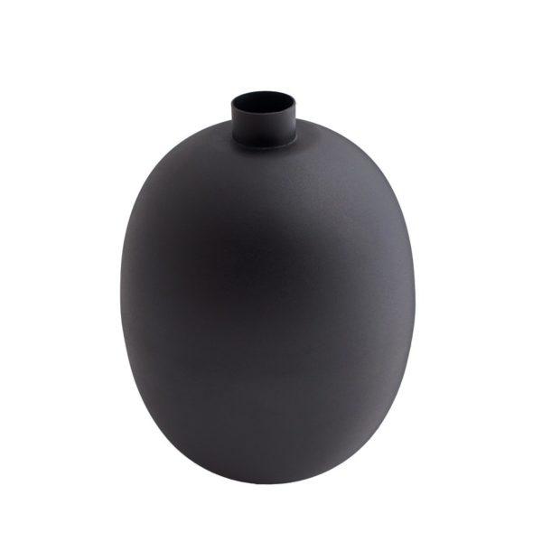 Vase in mattem schwarz