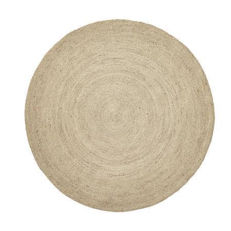 Runder Teppich aus Jute